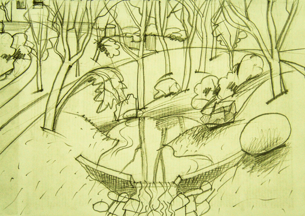 Bubenečská rokle – jezírko