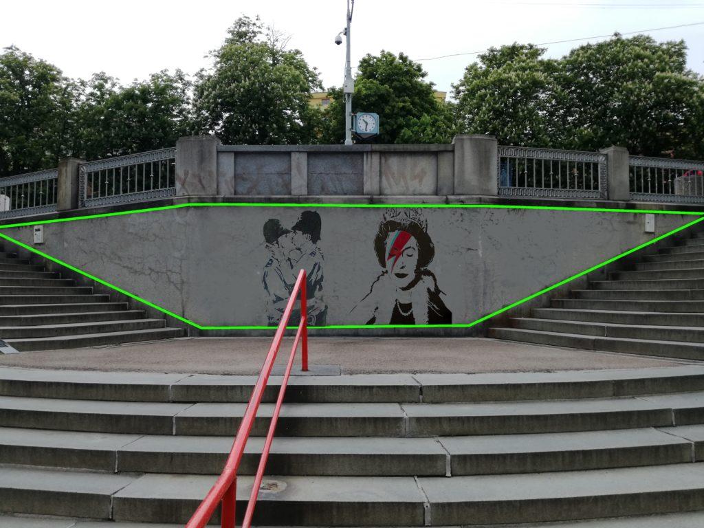 DRINOPOLIS - projekt venkovní výstavní galerie na zdi drinopolských schodů.