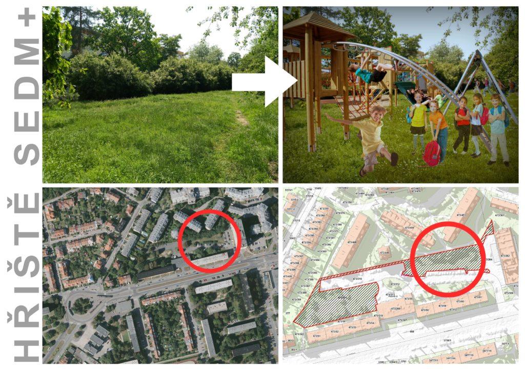 Dětské hřiště 7+ na Petřinách s možností dalšího rozšíření