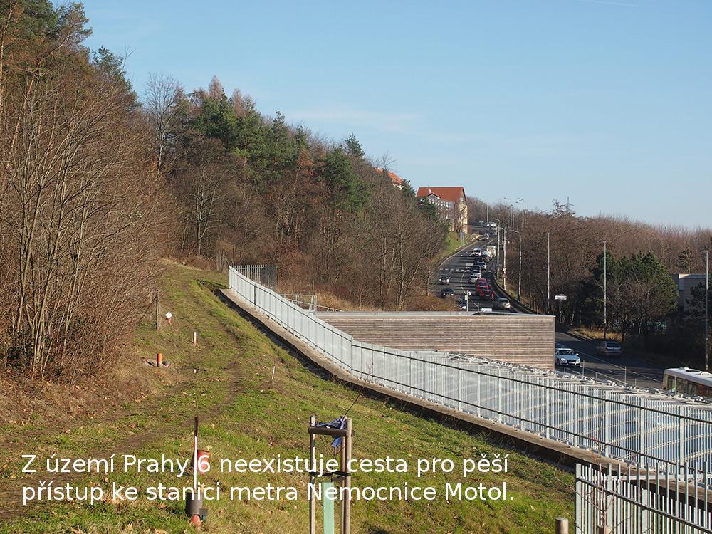 Najde se rozumná trasa cesty pro pěší z Břevnova ke stanici metra Nemocnice Motol ?