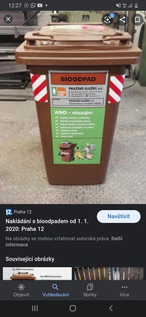 Popelnice na bioodpad a olej