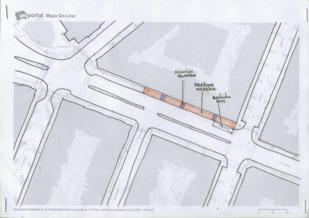 Obnova zastávky a chodníku v ulice Československé armády 16-22